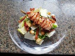 garden salad  prawns