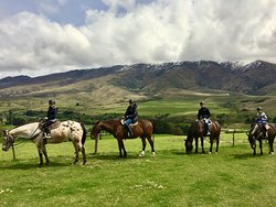 Our family on the trails of Cardrona.