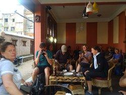 Visitor are enjoying........on cafe lampati
