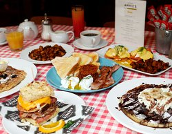 Real American Breakfasts served daily at Annie's Burger Shack Nottingham; 8am-10.30am