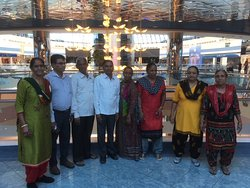 friends and family group picture at Abu dhabi mall