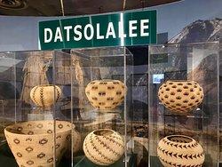 Native American artisan's basket weaving art