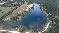 Aerial view of the lake 2018