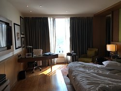 View of room towards window and writing desk