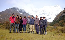 The whole group on our second to last day, we camped with a great view of the Tiger mountain :)