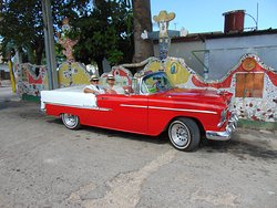 In the 1955 Belair Chevy touring Havana.
