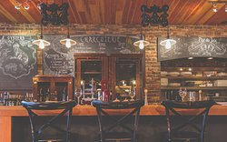 Vis-a-Vis bar. Grab your front row seats for breakfast, brunch, lunch or dinner.