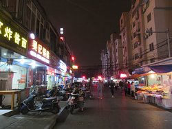 Street nearby hotel to get local cuisine