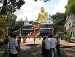 The Buddha statue - probably the tallest in Sri Lanka