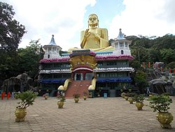 The Buddha statue and the Museum below that