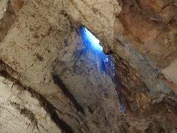 Foto's van in de grot
