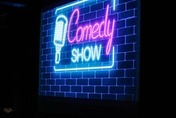 once a month performance of popular stand-up comedians