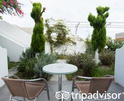 The Classic Room Garden View at the Aressana Spa Hotel and Suites