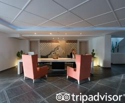 Front Desk at the Aressana Spa Hotel and Suites