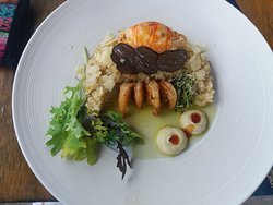 Lobster risotto with black truffle