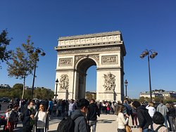 Arc de Triomphe at Place Charles de Gaulle, 75008 Paris, France Ordered to be built by Napoleon in 1806, the Arc de Triomphe was inaugurated after Napoleon's death by French king, Louis-Philippe, in 1836 who dedicated it to the armies of the Revolution and the Empire. The Unknown Soldier was buried at the base of the arch in 1921. The flame of remembrance is rekindled every day at 18:30.