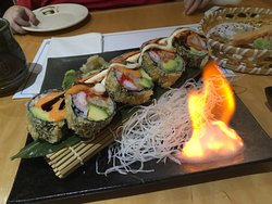 Flaming Volcano Roll