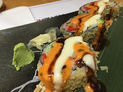 Over Sauced Volcano Roll.