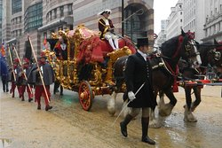 The gold coach in the Lord Mayor's Show in the City of London