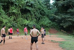 Played football with the villagers, very kind people.