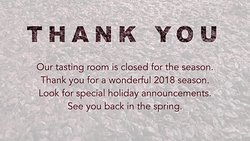Closed for the Season.