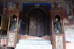 The entarance to one of the orthodox churche