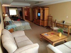 Área de estar do quarto.