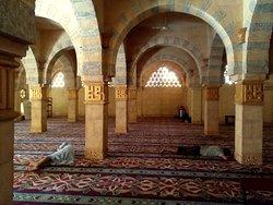Locals resting between prayers.