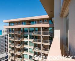 The Junior Suite Oceanview at the Queen Kapiolani Hotel