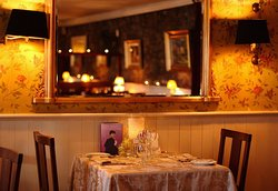 Romantic table and a reflection of the main room