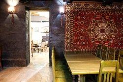 "Armenian carpet called ""Satenik""  Tamzara restaurant"