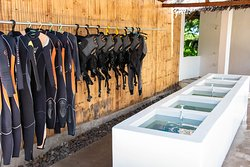 Dive shop, rinse area