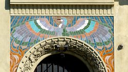 Art Nouveau doorway, New Town