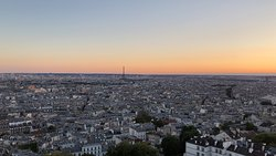 Eiffel Tower in the distance, Paris sprawling below, sun setting– I told the Hubbs if he wanted to propose again now would be fine.