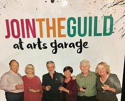 Board of directors at the Arts Garage.