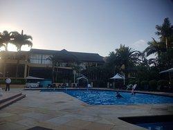 Restaurant outstanding, pool area great