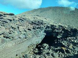 Lava sólida de los volcanes