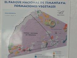 Mapa del Parque Nacional de Timanfaya