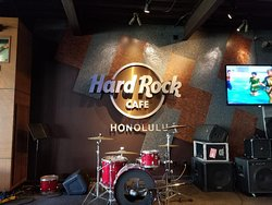Didn't are for the placement of that TV, but wanted to get a pic of the Hard Rock sign.