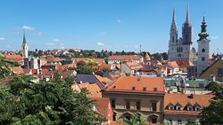 view of the Zagreb Cathedral