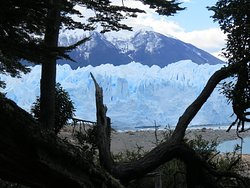 Spectacular sight of the glacier