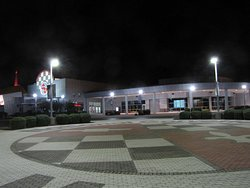 Exterior of the National Corvette Museum at night
