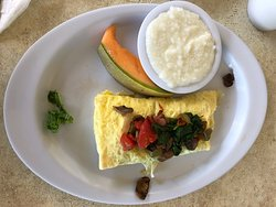 three egg omelette with veggies