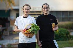 Kökschef Joel Lindholm och restaurangchef Joel Lindholm