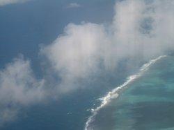 La laguna di Le Morne vista dall' aereo