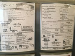 Example of the daily activities sheet. List of Kids Club activities, and main entertainment goings-on, restaurants, drinks of the day etc. etc.