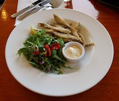 """Dusted Whitebait"" & salad"