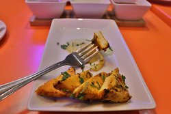 Tandoori paneer tikka, marinated in special spices and cooked in our tandoor for that true flavour of India