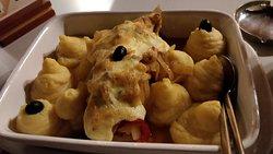 Morue à la Mayonnaise au four avec son écrasé de patate ! Trés copieux (plat pour 1 personne)