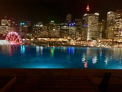 pool looked lovely at night all lit up